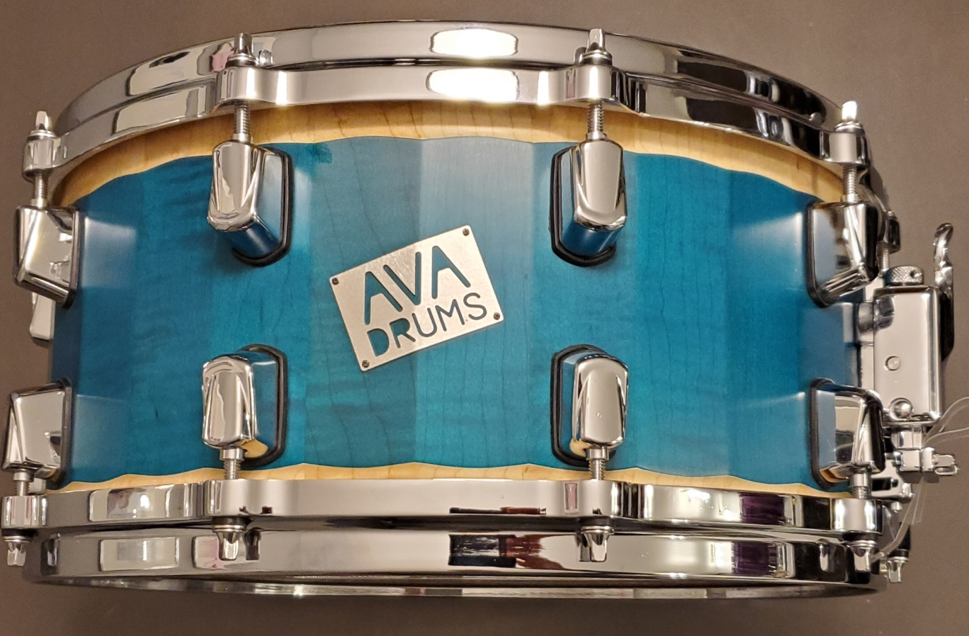 14 X 6.5 FIGURED MAPLE GREEN/BLUE ACCENT