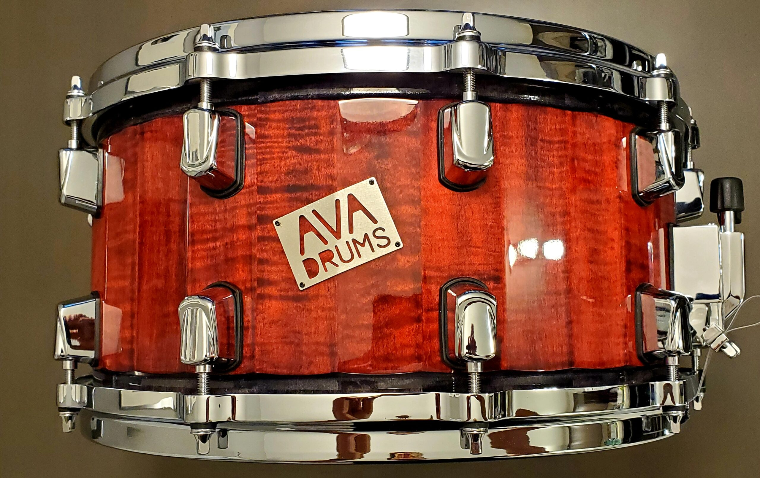 14 X 7 FIGURED MAPLE WITH RED/BLACK ACCENT