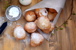 Beignets in a Basket