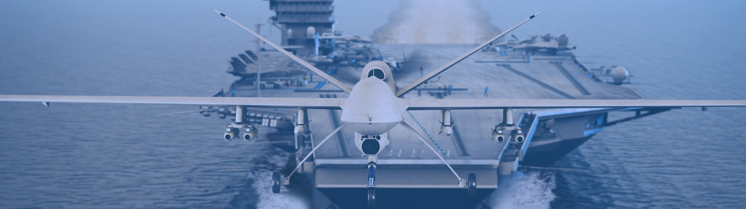 Aerospace Image - Drone and aircraft carrier
