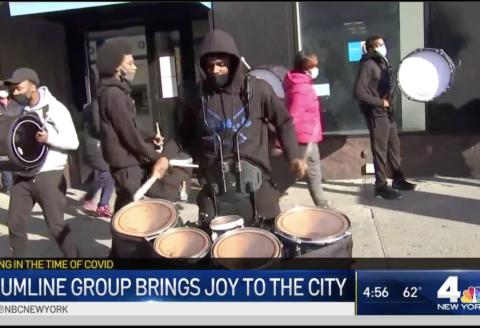 NBC features Blue Angels Drumline on Flatbush Ave.