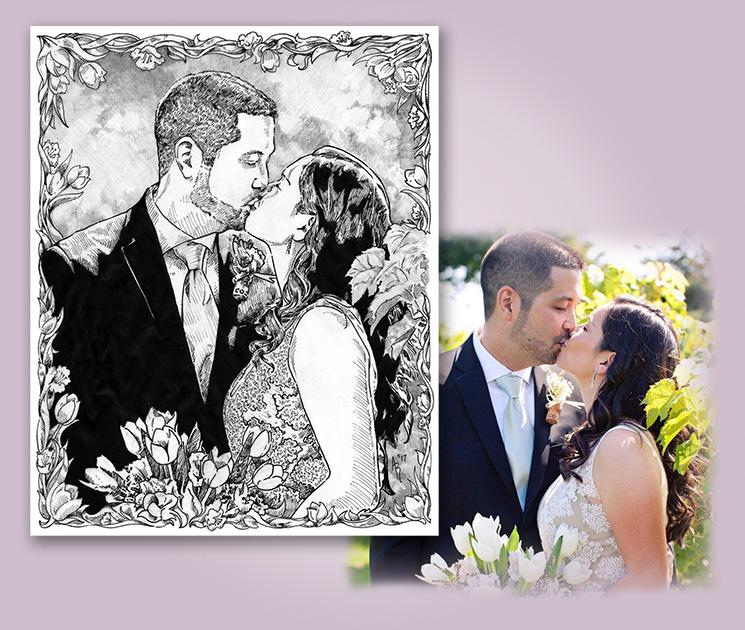 Grabiner_WeddingKiss_DrawingandPhoto_WEB