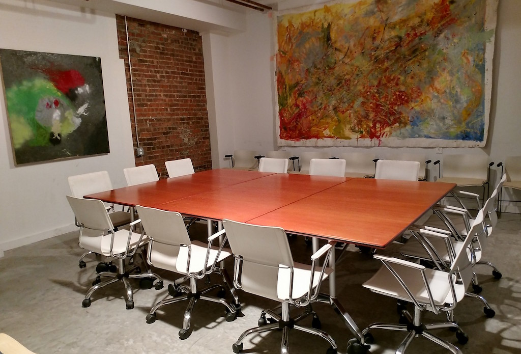 Grit works conference room, coworking in newburgh