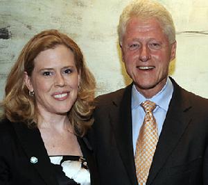 Kristin Oblander and President Bill Clinton