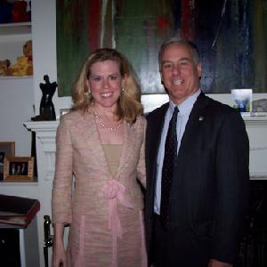 Kristin Oblander with Governor Howard Dean