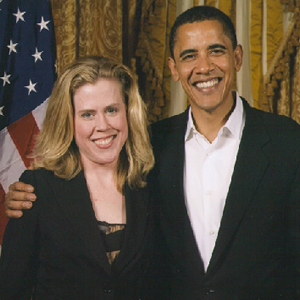 Kristin Oblander and President Barack Obama