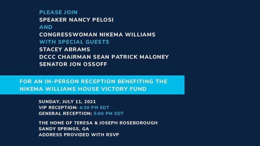 Reception Benefitting the Nikema Williams House Victory Fund @ The Home of Teresa & Joe Roseborough