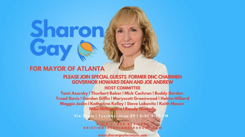Sharon Gay Online Fundraiser Featuring Governor Howard Dean @ Zoom - Link Provided with Registration
