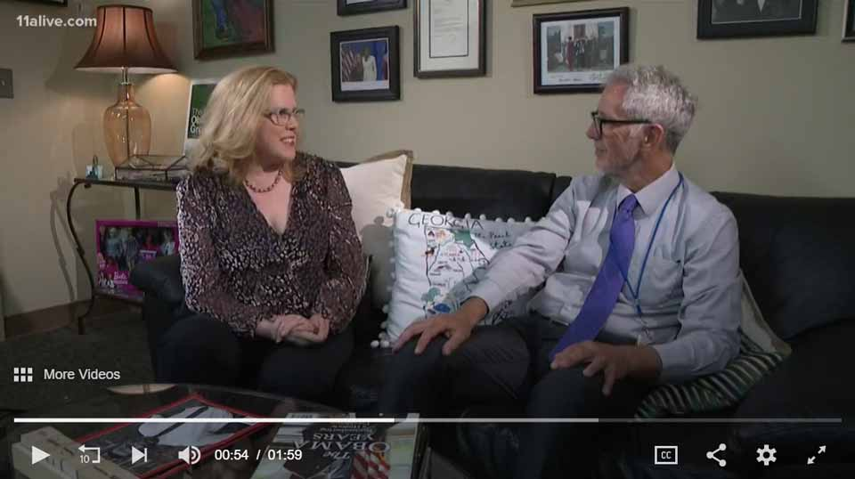 Kristin Oblander interviewed by Doug Richards 11 Alive News