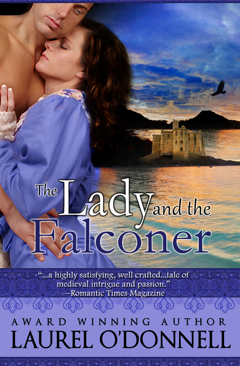 Romance Novel Cover for The Lady and the Falconer by Laurel O'Donnell