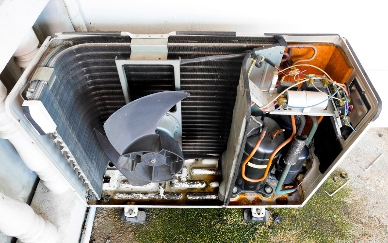 inside of an air conditioner