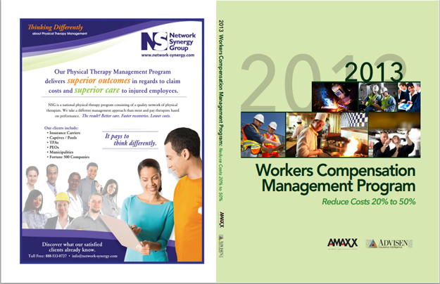 Workers Comp Book Custom Cover for Network Synergy Group