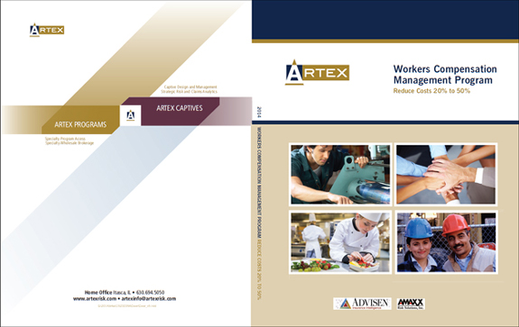 Fully Customized Workers Comp Book Cover for Artex