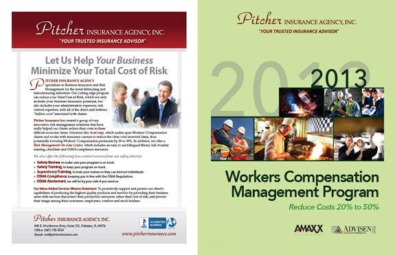 Back Cover Customization of WC Management Program for Pitcher Insurance Agency