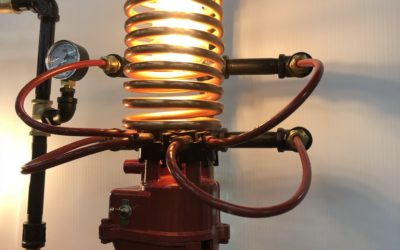 INDUSTRIAL LIGHTING at its finest! Look closely at the fabulous details of these one of a kind pieces!