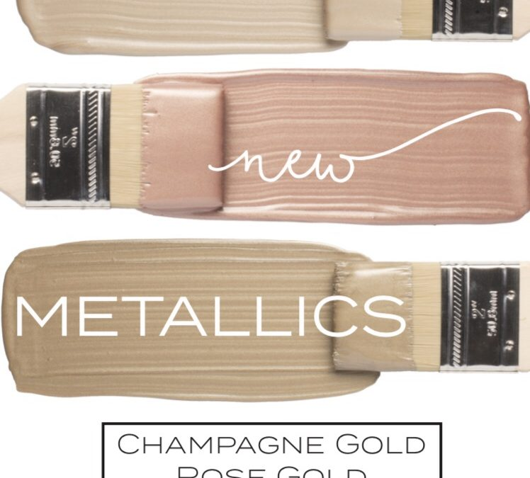 JUST ARRIVED-New metallic Fusion Mineral Paint colors!!!