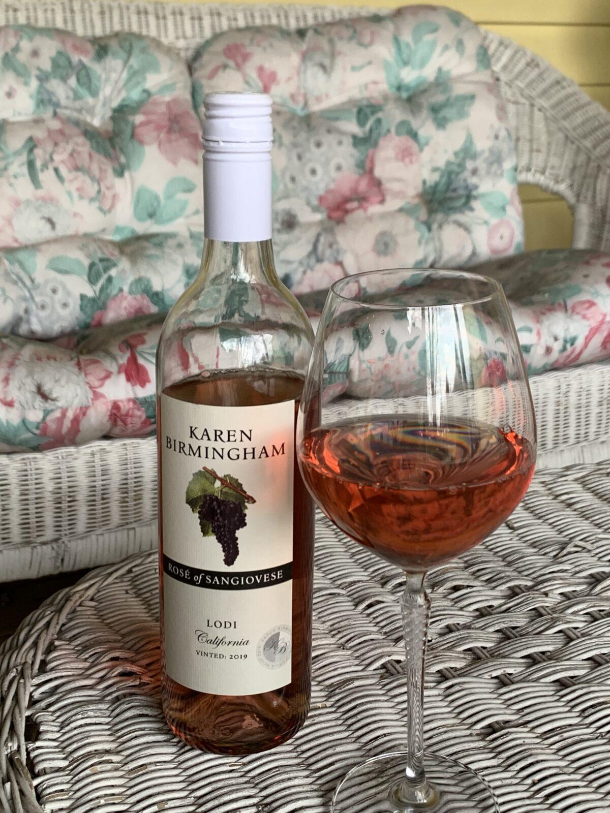 Karen Birmingham Rose of Sangiovese Wine Review