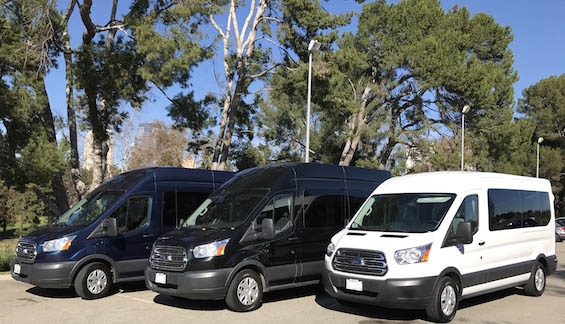 Los Angeles chauffeured vans