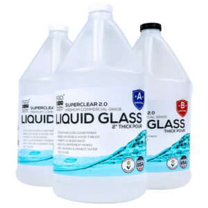 Liquid Glass Deep Pour Epoxy Resin 3 Gallon Kit
