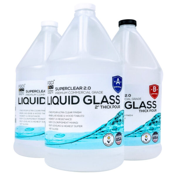 Selling Liquid Glass Deep Pour Epoxy Resin 3 Gallon Kit