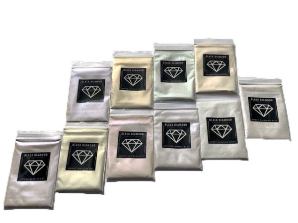 Variety Pack 9 Mica Powder - Black Diamond Epoxy Resin Color Pigment