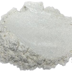 Pure Pearl White Mica Powder - Black Diamond Epoxy Resin Color Pigment