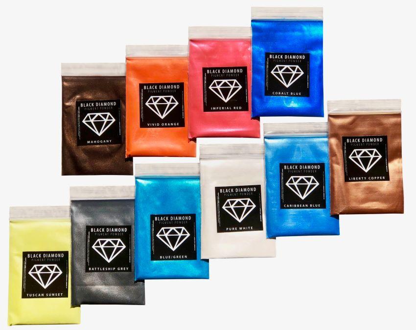Variety Pack 1 Mica Powder - Black Diamond Epoxy Resin Color Pigment