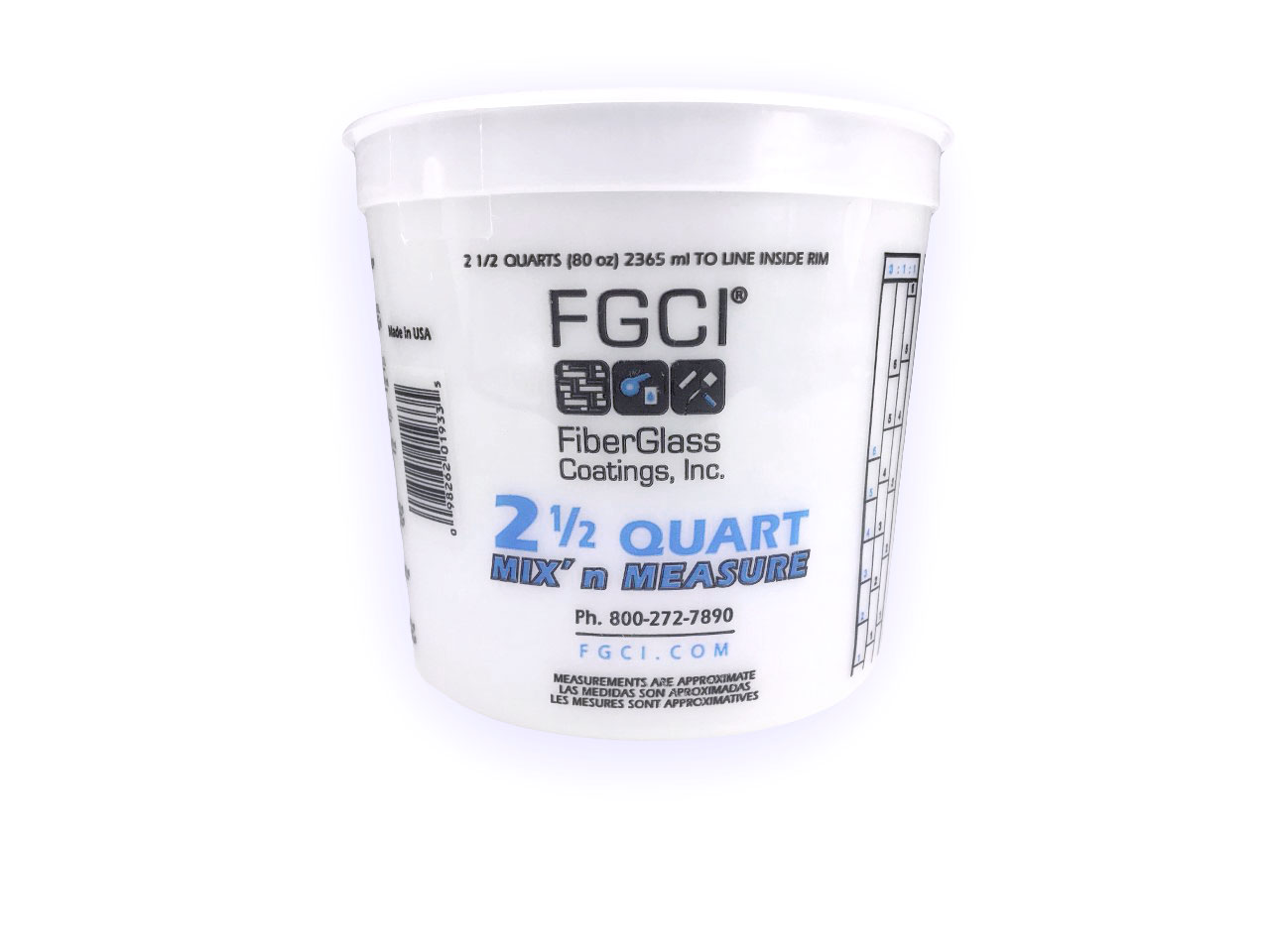 Selling 2.5 Quart Resin Mixing Cup - HDPE