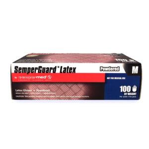 SemperGuard® Medium Latex Gloves - 100 ct