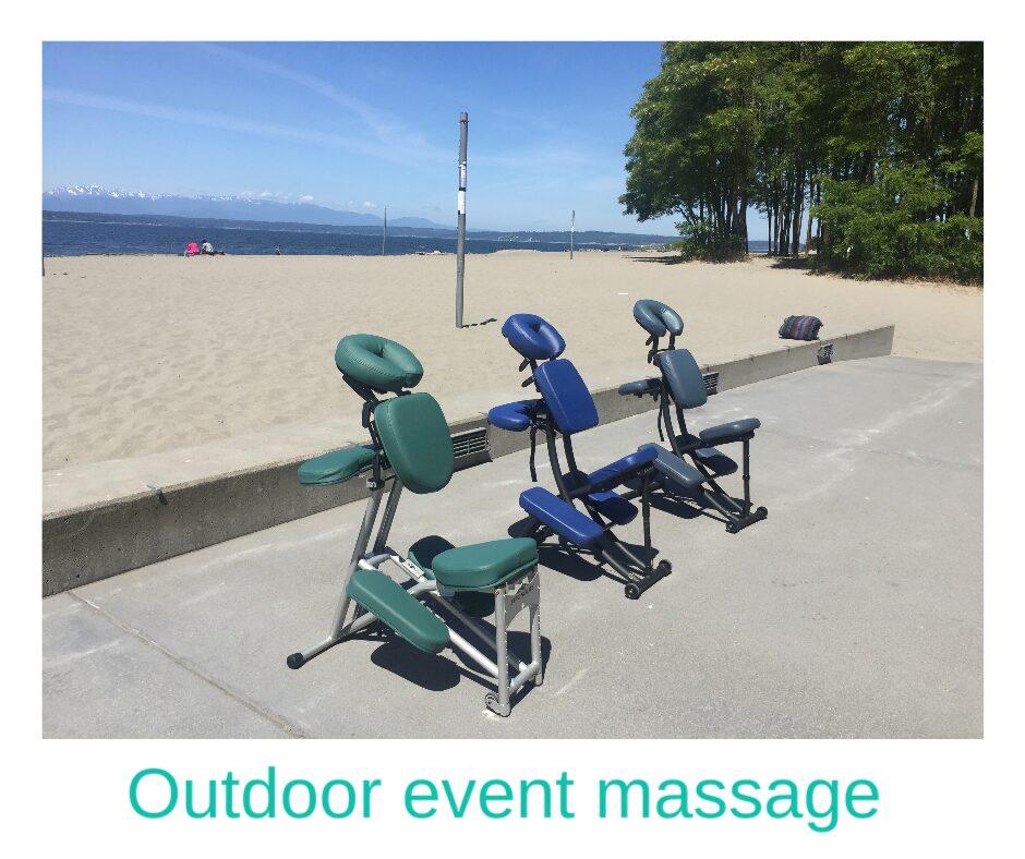 Seattle outdoor chair massage