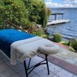 Outdoor massage lake