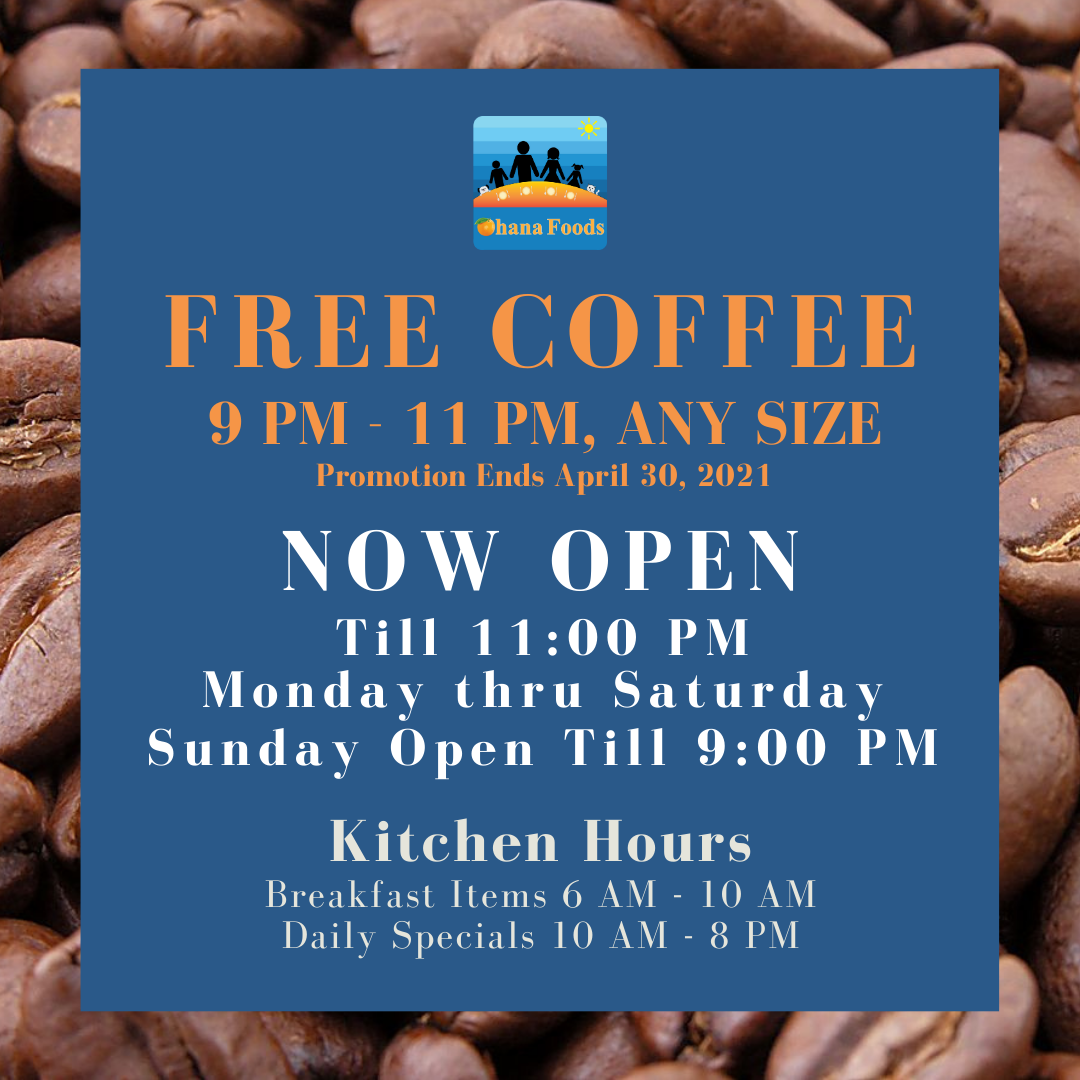 Coffee - New Hours Social Media Post