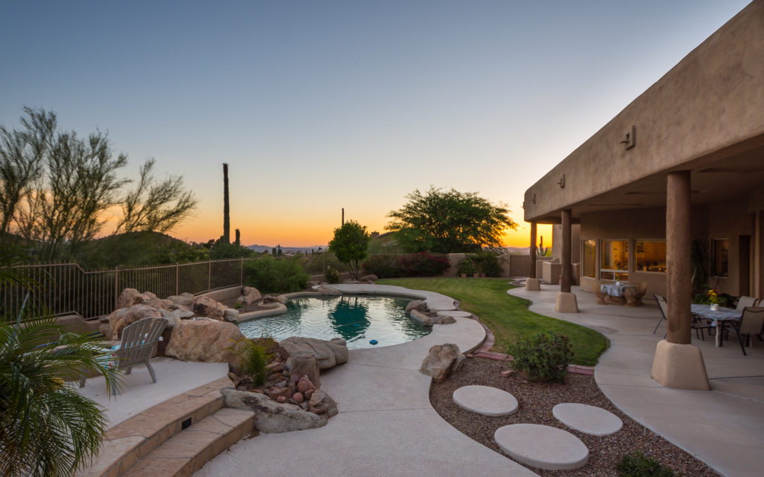 Territorial Retreat Nestled at the Base of McDowell Mountains in Scottsdale, Arizona