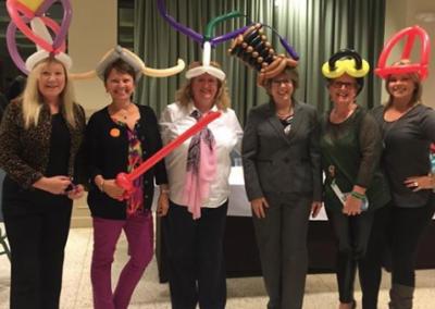 balloon hats business and professional women speech