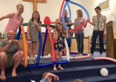 Interactive family event balloon speech