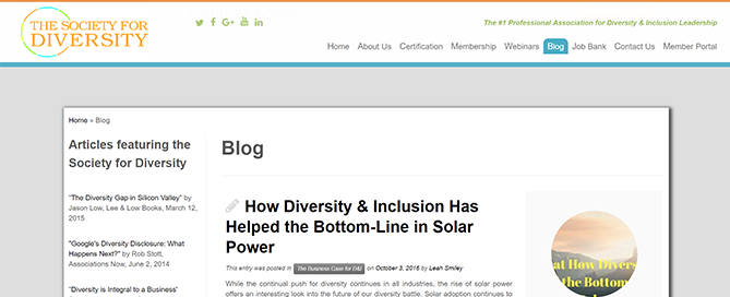 SouthWest Sun Solar Featured on The Society for Diversity