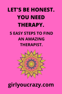 5 easy steps to find an amazing therapist #therapy #depressionhelp #anxiety #mentalhealth #therapy #counseling