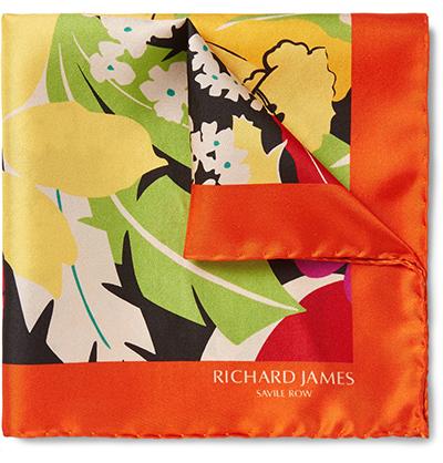Richard James Floral-Print Silk-Twill Pocket Square