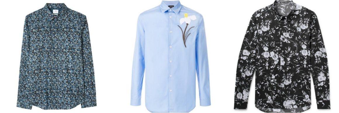 seasonal essentials long sleeved floral shirt