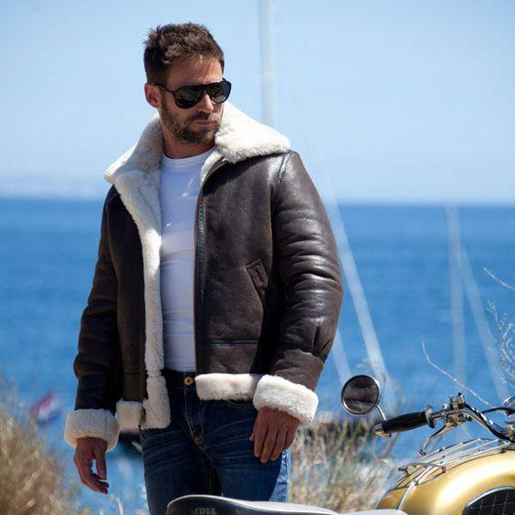 italist Schott NYC Shearling Jacket