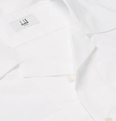 Penn Badgley style Dunhill Camp-Collar Cotton Shirt
