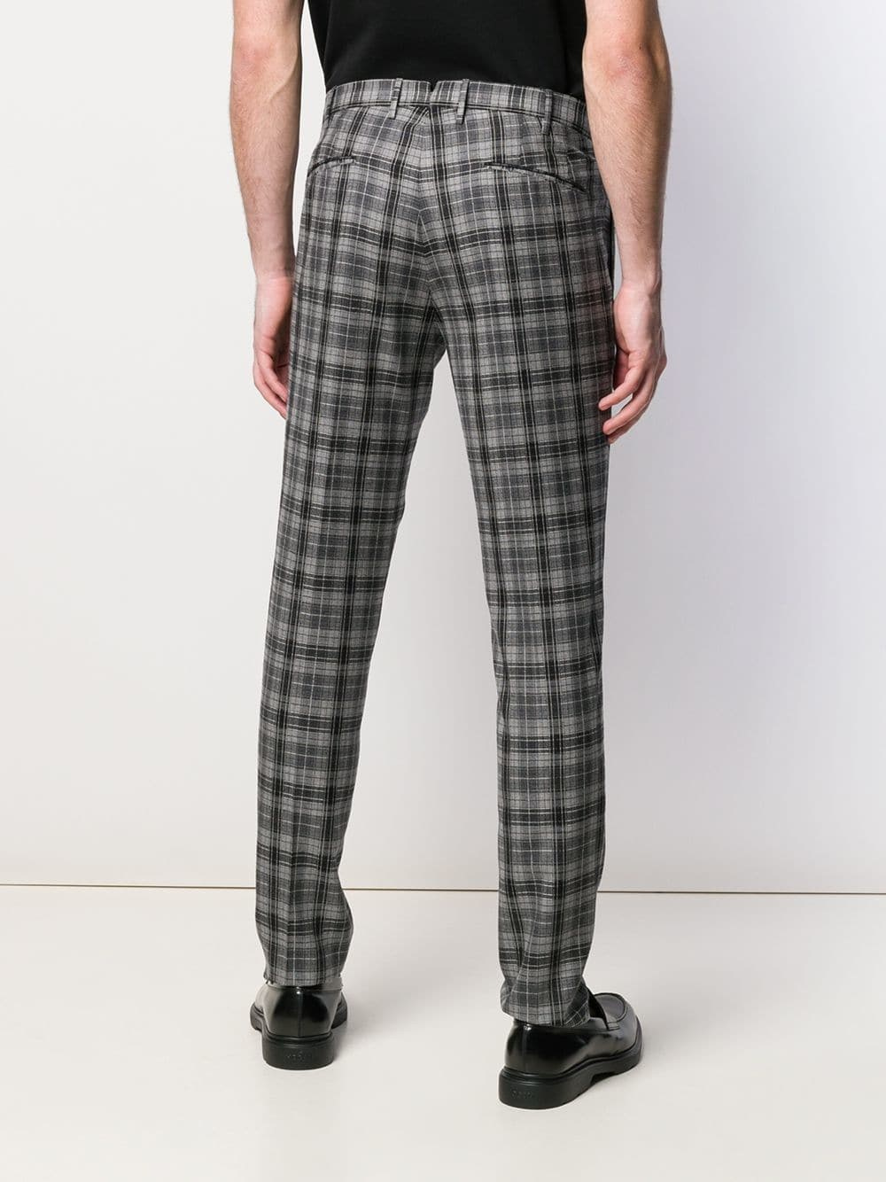Penn Badgley style preppy fit trousers