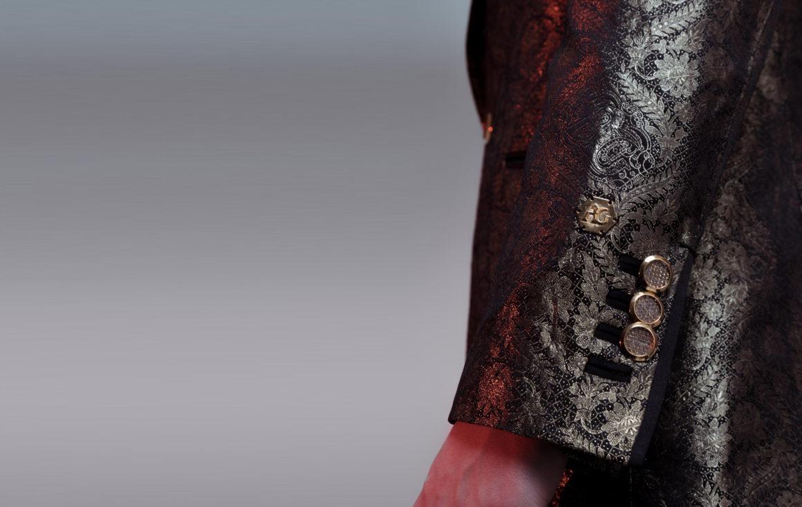 Angelo Galasso gold thread blazer