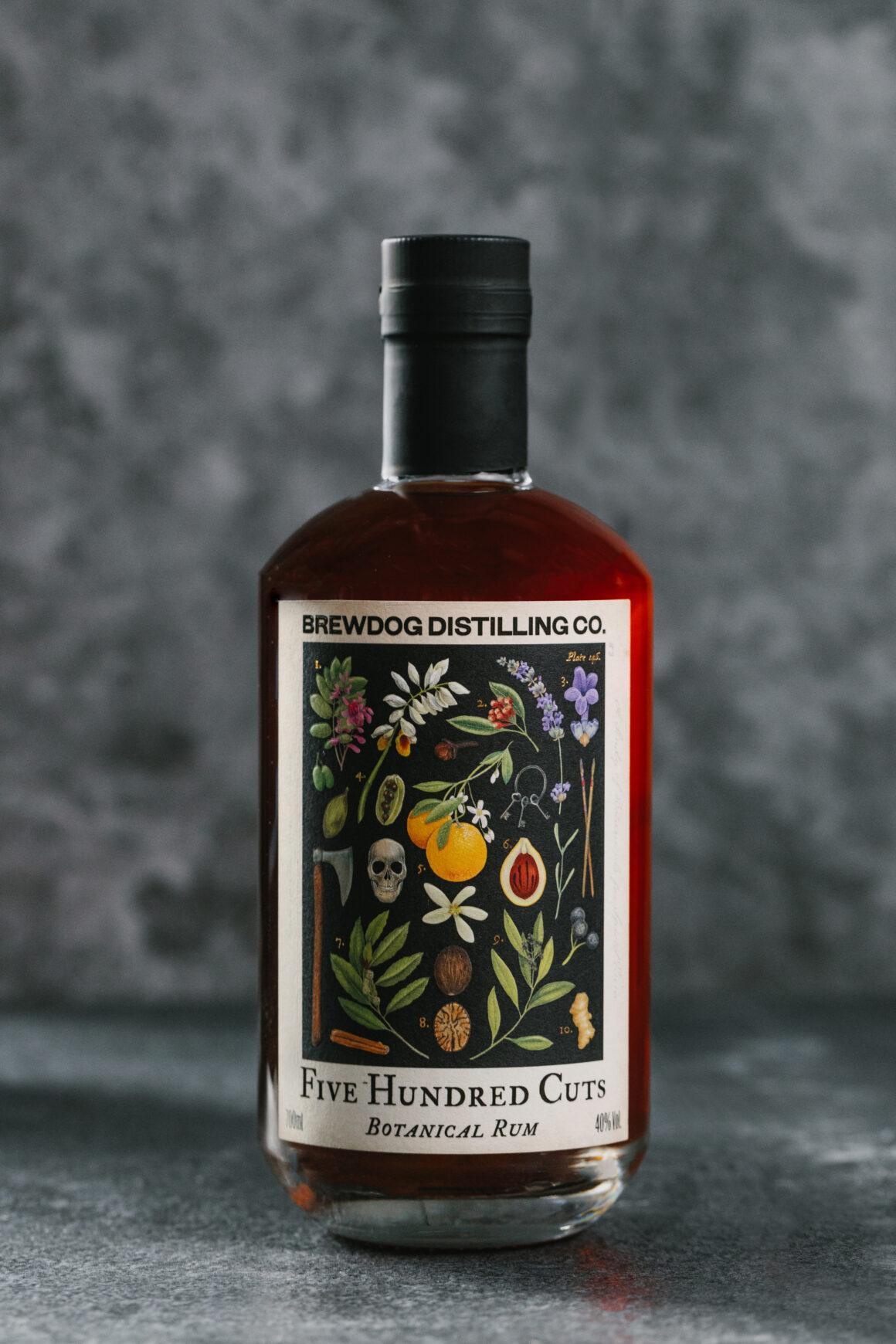 BrewDog Distilling Co. introduces Five Hundred Cuts Rum bottle