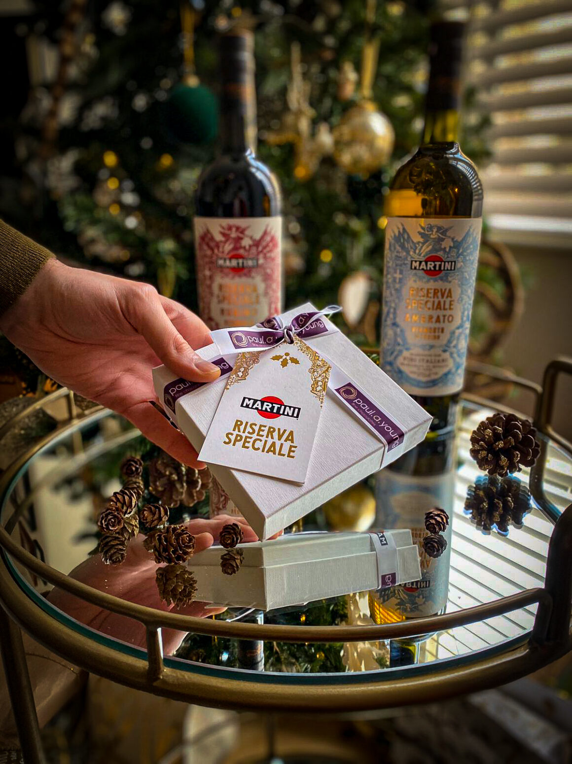 MARTINI celebrates the festive season with a Negroni chocolate collection by Paul A Young box