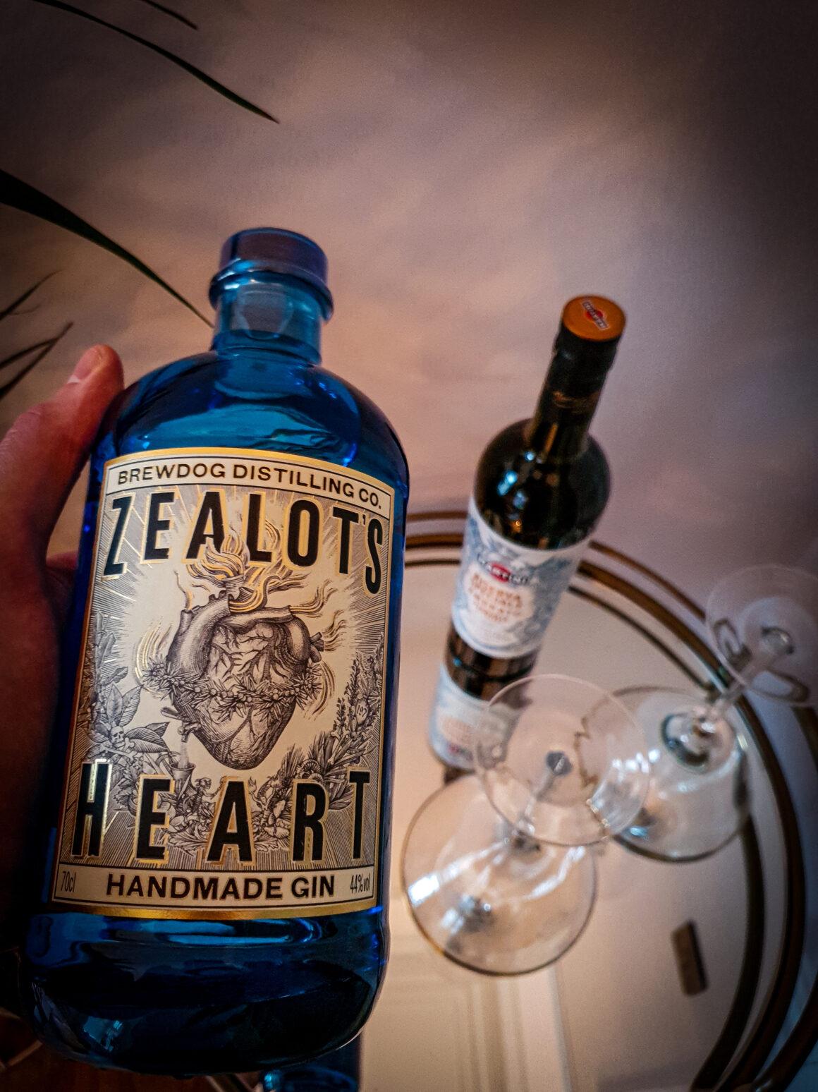 NYE Cocktail Creation - BrewDog Zealot's Heart Martini BrewDog Distilling Co