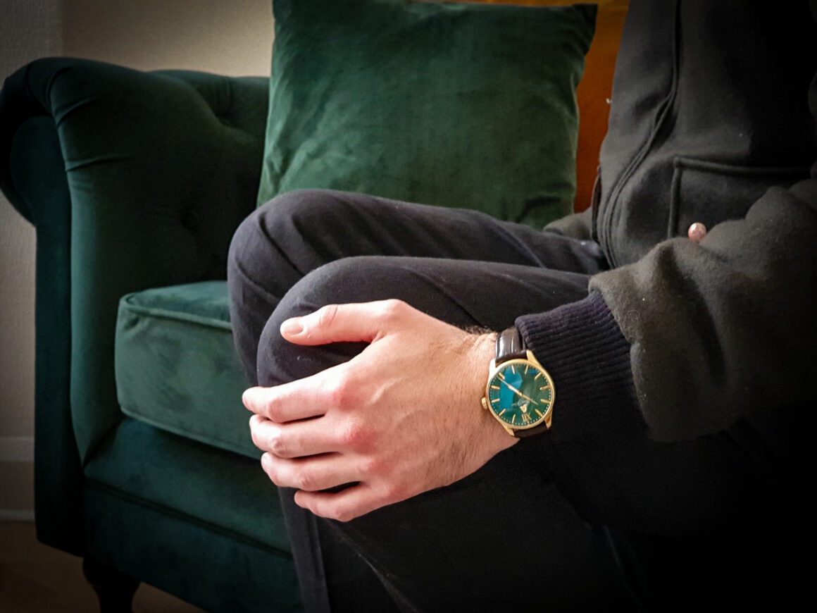 off the cuff ldn British Racing Green William Wood Watch The Chivalrous Collection Timepiece