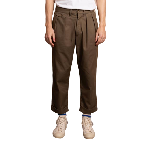 #500 Mr Will Halbert Editor in Chief of The Essential Journal - TWC MEN'S PLEAT FRONT CHINO