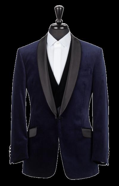Alexandra Wood Men's Tailoring - A Modern Approach to Savile Row - Navy Velvet Smoking Jacket