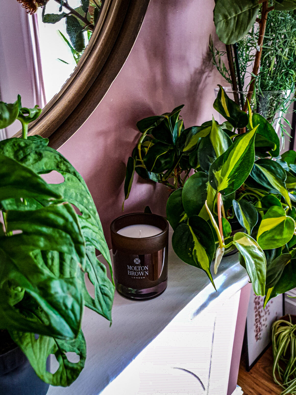 At Home with Molton Brown Tobacco Absolute candle